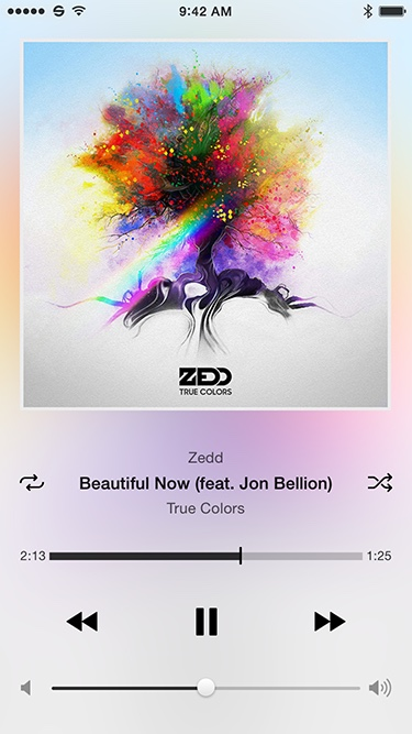 Light music player playing Zedd