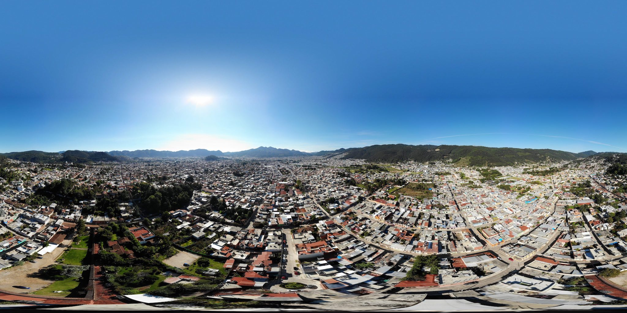 Ariel 360 photo of a city